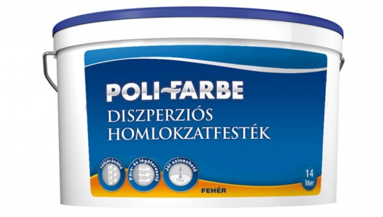 POLI-FARBE DISZPERZIÓS HOMLOKZATFESTÉK 5L FEHÉR